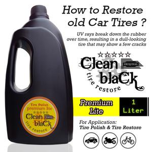 Clean Black Restore - Semir Ban Mobil Sepeda Motor - Premium Lite 1 L