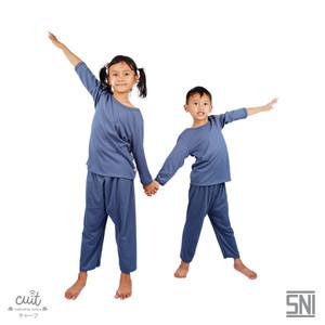 Cuit Setelan Kids Tangan Panjang Celana Panjang Block Color