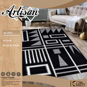 [Karpet Direct] Artisan Karpet 160x210 Cm (Hitam Putih)–Kode 43-2527
