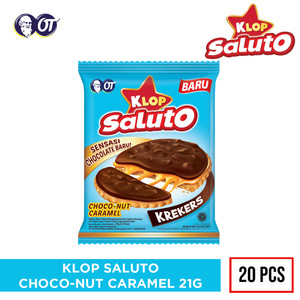 KLOP SALUTO CHOCO-NUT CARAMEL 21G [ISI 20PCS]
