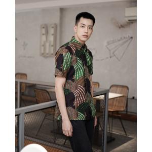 Kemeja Batik Pria   Lengan Pendek  Regular Fit   Ngibing