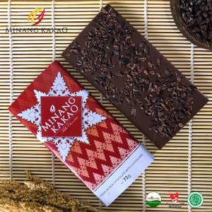 Premium Milk Chocolate with crunchy Cocoa Nibs   72gr   Minang Kakao