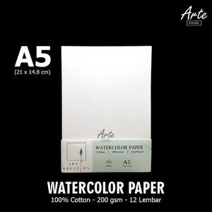 ART KREATION Watercolor Paper A5 (200 gsm - 100% Cotton)