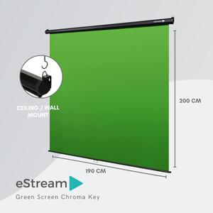 eStream Mountable & Collapsible Chroma Key Green Screen