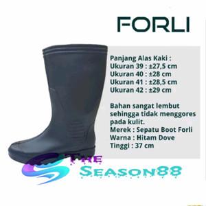 Sepatu Boot Forli Karet