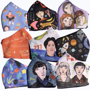 Doodleganger Fabric Masks : Pack #1