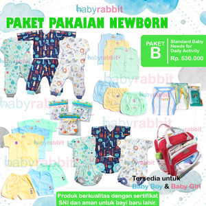 Paket Perlengkapan Bayi NewBorn Standard (B) / Paket New Born Baby
