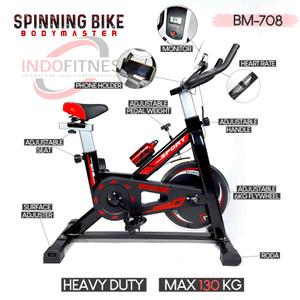 Spinning Bike BM 708 BODYMASTER - Sepeda Statis Olahraga - Fitness RPM