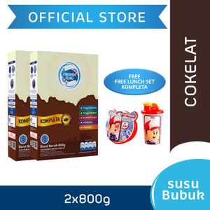 Frisian Flag Susu Bubuk Keluarga Cokelat 800g [2 pcs] Free Gift