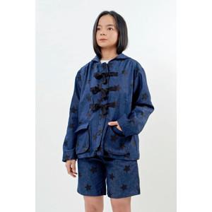 Star Denim Hooded Jacket