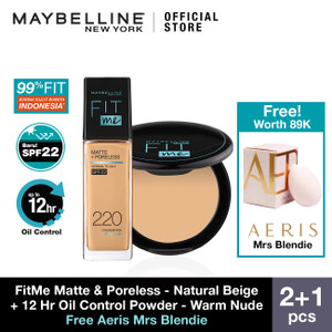Maybelline Fit Me Foundation 220 + Powder 128 X Aeris