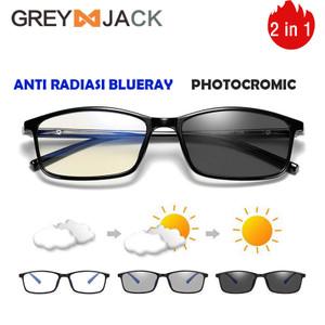 GREY JACK/kacamata anti radiasi blueray+photocromic 2IN1 TR90 2821