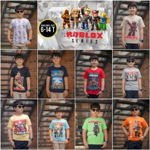 Baju Kaos Anak Junior Laki-laki Junior Motif Karakter Roblox Series