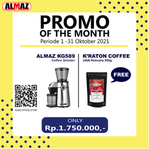ALMAZ PROMO OF THE MONTH Grinder KG589 FREE Kraton Java Robusta 500g