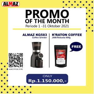 ALMAZ PROMO OF THE MONTH Grinder KG583 FREE Kraton Java Robusta 500g