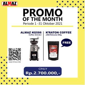 ALMAZ PROMO OF THE MONTH Grinder KG586 FREE Kraton Java Robusta 500g