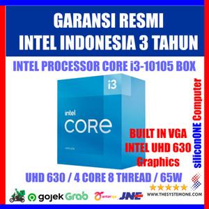 Intel Core i3 10105 3.7Ghz 4.4Ghz Box LGA 1200 Resmi UHD630 i3-10105