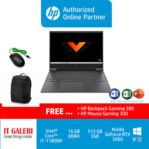 Victus by HP Laptop 16-d0107TX - i7-11800H/16G/512G/RTX3060/OHS/Silver