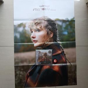 CD Taylor Swift Evermore Bonus Poster Import Taiwan