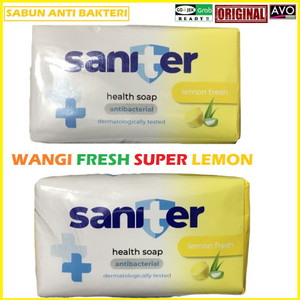 sabun anti virus bacteri saniter super wangi lemon hygiene health soap