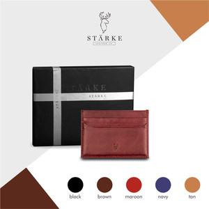 Starke Leather Nimble Pudu Card Holder Kulit Asli - Maroon