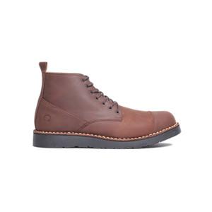 Sepatu Boots Kulit Otiv Gama Dark Brown