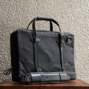 C.O. 15 Ash Waxed Twill Briefcase Laptop Bag