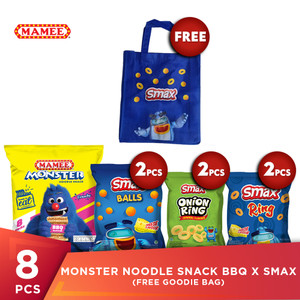 Mamee Monster Noodle Snack BBQ x SMAX (Free Goodie Bag)