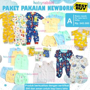 Paket Perlengkapan Bayi NewBorn Basic (A) / Paket Baju Bayi New Born
