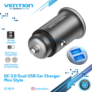 Vention Car Charger Fast Quick Charge Samsung Apple Xiaomi Huawei
