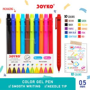 Color Gel Pen Pena Jel Warna Joyko GPC-295 10 Warna 0.5 mm
