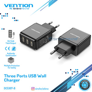 Vention Multiport Adaptor Charger Iphone Samsung Xiaomi Oppo Vivo