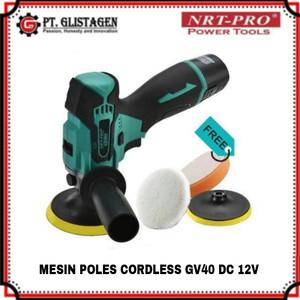 Mesin Poles Mobil Polisher Baterai Cordless NRT PRO GV40 DC12V