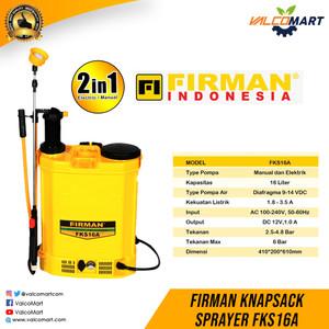Penyemprot Bahan Kimia Pertanian / Knapsack Sprayer Firman FKS16A
