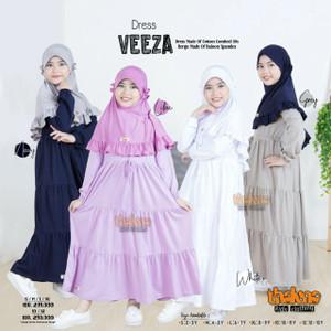 Gamis anak Veeza By Thaluna Kids Original - gamis anak set jilbab new