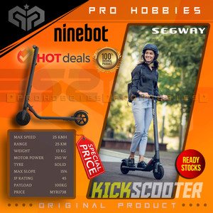 Segway Ninebot ES2 Electric Scooter With LED Display Skuter Listrik