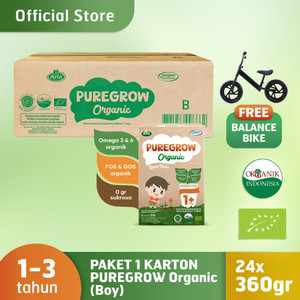1 Carton PUREGROW Organic 360gr Boy Version Free Balance Bike