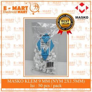 MASKO KLEM KABEL NO 9MM / Clip Kabel Paku Beton 9MM (Isi 50) GROSIR
