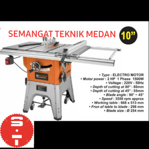 "105 TABLE SAW TABLESAW MEJA POTONG KAYU ELECTRO MOTOR DINAMO 10"" ALDO"