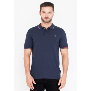 Skelly Polo Shirt Pria Guardian Classic W2 Navy