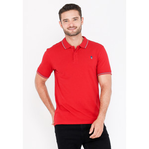 Skelly Polo Shirt Pria Guardian Classic Polo W2 Merah