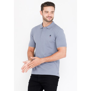 Skelly Polo Shirt Pria Guardian Classic Polo W2 Dusty Blue