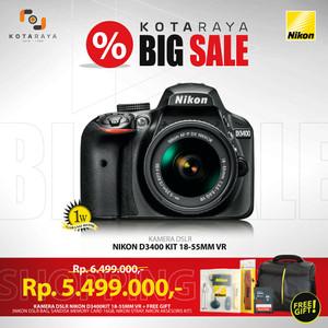 Nikon D3400 Kit 18-55mm VR DSLR Camera GARANSI RESMI