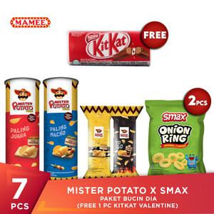 Mister Potato x SMAX Paket Bucin Dia (Free 1pcs Kitkat Valentine)
