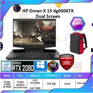 HP Omen X 15-dg0006TX dual 240Hz | i9 9880H 32GB 2TB SSD RTX2080 8GB
