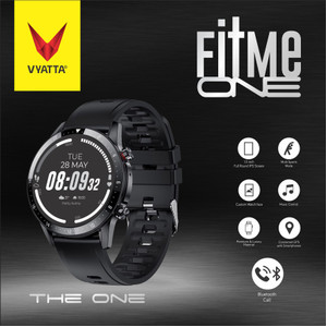 VYATTA Fitme One Smartwatch -Bluetooth Phone Call, GPS Connected, SPO2