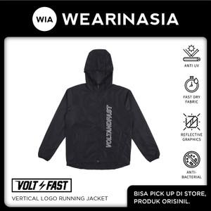 Volt and Fast Vertical Logo Running Jacket Black Original