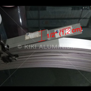 "Plat Strip Aluminium 1/2"" (1,3 cm) SUPEREX, Tbl. 1 mm, Pjg. 6 meter"