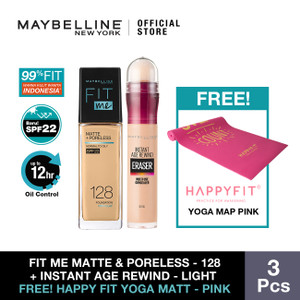 Maybelline X HappyFit Yoga Matt Pink