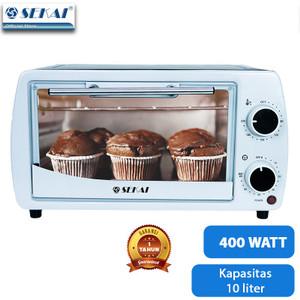 SEKAI Oven Listrik Low Watt Pemanggang Makanan Serbaguna 10L - OV 100